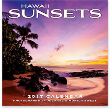 Hawaii Sunsets - 2017 Deluxe Hawaiian Wall Calendar