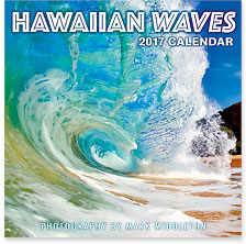 Hawaiian Waves - 2017 Deluxe Hawaiian Wall Calendar