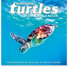 Hawaiian Sea Turtles - 2018 Deluxe Hawaiian Wall Calendar