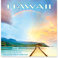 Sunsets of Hawaii - 2018 Deluxe Hawaiian Wall Calendar