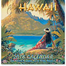 Aloha Hawaii - 2018 Deluxe Hawaiian Wall Calendar