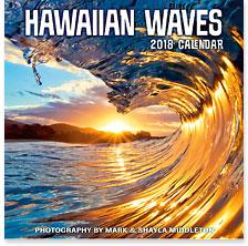 Hawaiian Waves - 2018 Deluxe Hawaiian Wall Calendar