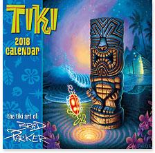 Tiki - 2018 Deluxe Hawaiian Wall Calendar