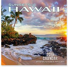 Sunsets of Hawaii - 2019 Deluxe Hawaiian Wall Calendar