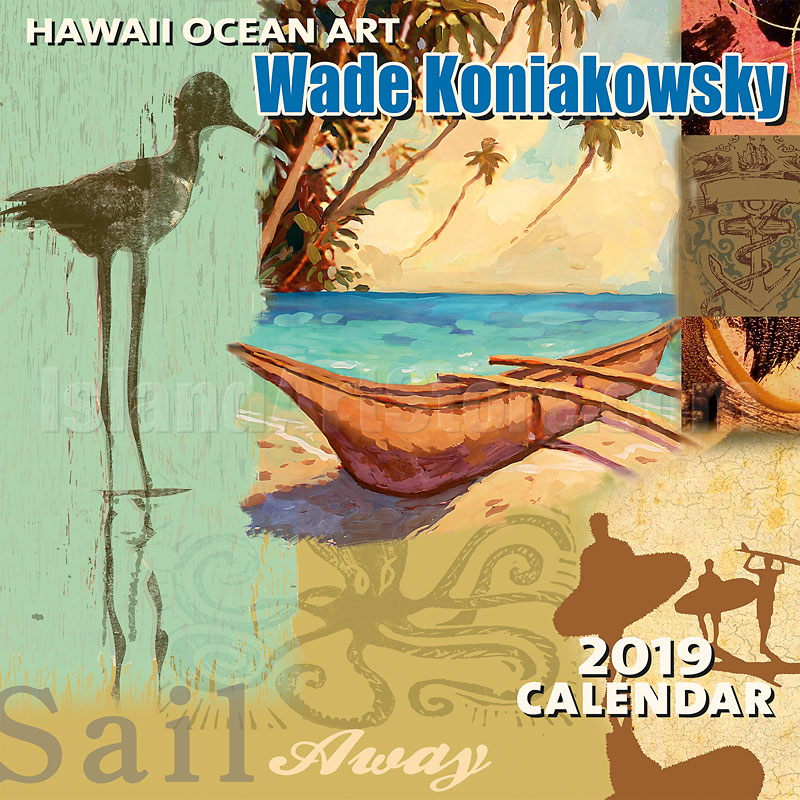 2019 Wall Calendar - Hawaiian Ocean Art - Artwork by Wade ...