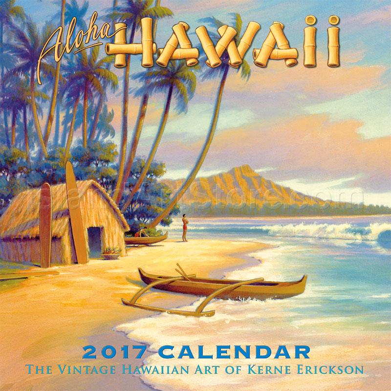 2017 Deluxe Wall Calendars Aloha Hawaii Vintage
