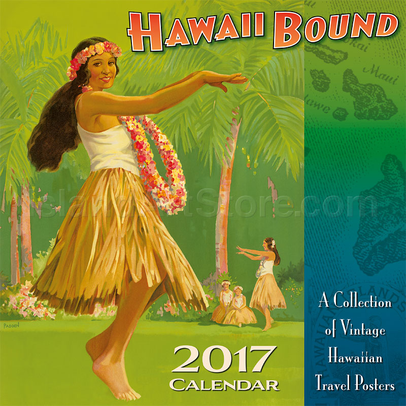 Calendar Vintage Travel Posters : Deluxe wall calendars hawaii bound collection of