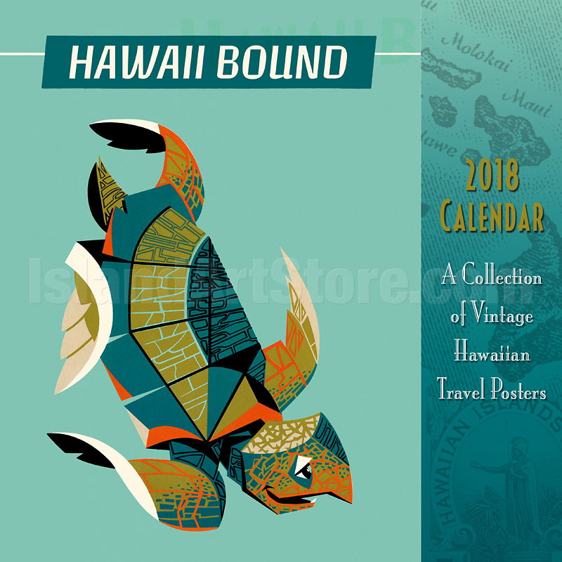 Calendar Vintage Travel Posters : Wall calendar hawaii bound collection of vintage