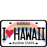 I Heart Hawaii License Plate - Hawaii Decal