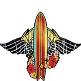 Surfboard Tribute - Hawaii Decal