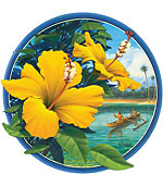 Yellow Hibiscus - Hawaii Decal