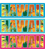 Hawaii Floral Type - Hawaii Decal