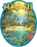 Aloha from Hawaii - Hawaiian Art Decal