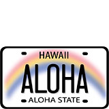 Aloha License Plate - Hawaii Decal
