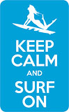 Keep Calm and Surf On - Hawaii Decal