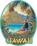 Hawaii - Hawaiian Art Decal