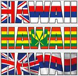 Hawaii Hawaiian Flag Kanaka Maoli Flag - Hawaii Decal