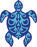 Polynesian Tribal Turtle - Hawaii Decal