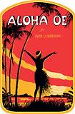 Aloha Oe - Hawaii Decal