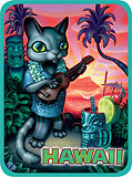 Tiki Cat - Hawaii Decal