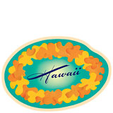 Hawaii Lei - Hawaii Decal