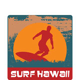 Surf Hawaii - Hawaii Decal