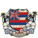 Hawaiian Flag Emblem - Hawaii Decal