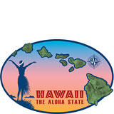 Island Chain - Hawaii Decal