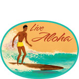 Live Aloha Surf - Hawaii Decal