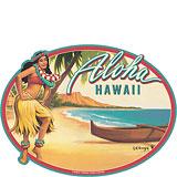 Aloha Waikiki - Hawaii Decal