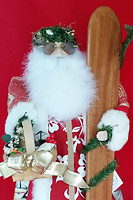 Red Hibiscus Santa Claus - Hawaiian Dolls