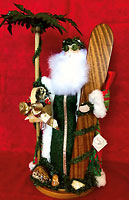 Hawaiian Surfin' Santa Collectible Heirloom - Hawaiian Dolls