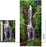 Mystic Falls - Hawaiian Foldable Postcards