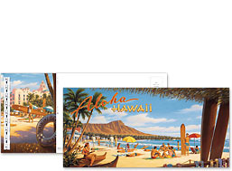 Aloha Hawaii - Hawaiian Foldable Postcards