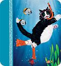 Snorkel Kitty - Hawaiian Gift Enclosure Card