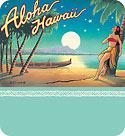 Aloha Hawaii Moon - Hawaiian Gift Enclosure Card