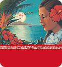 Aloha Moonrise - Hawaiian Gift Enclosure Card