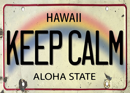 Keep Calm License Plate - Personalized Greeting Card