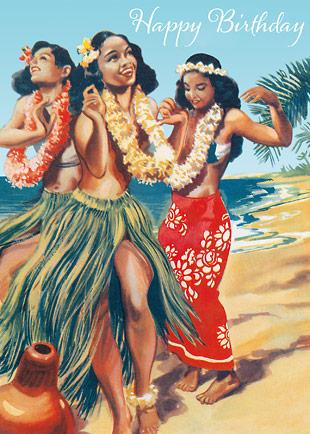 Nude Hawaiian Hula Dancers
