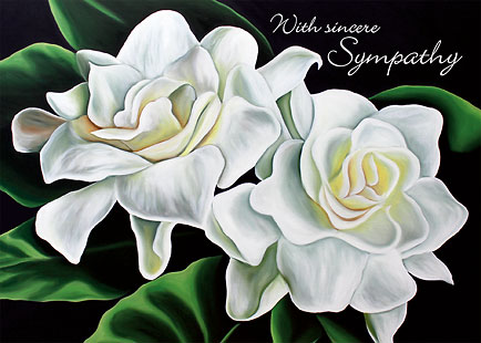Two Gardenias - Personalized Greeting Card