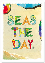 Seas The Day - Hawaiian Everyday Glossy Blank Greeting Cards