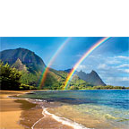 Rainbow Paradise - Hawaiian Everyday Blank Greeting Card