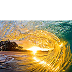 Sunrise Barrel - Hawaiian Everyday Blank Greeting Card