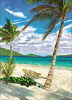 Paradise For Two - Personalized Greeting Card