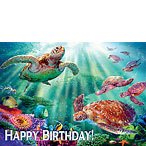 Turtle Voyage - Hawaiian Happy Birthday Greeting Card
