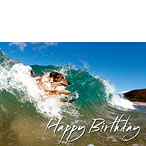 Surf's Up - Hawaiian Happy Birthday Greeting Card