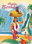 Hawaiian Birthday Aloha - Hawaiian Happy Birthday Greeting Card
