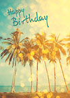 Birthday Sparkles - Hawaiian Happy Birthday Greeting Card