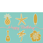 Aloha Birthday - Personalized Greeting Card