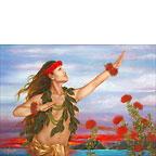 Ohio & Lehua - Hawaiian Happy Birthday Greeting Card